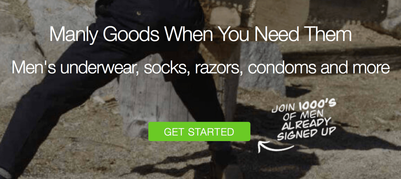 Manly Goods - Call to action