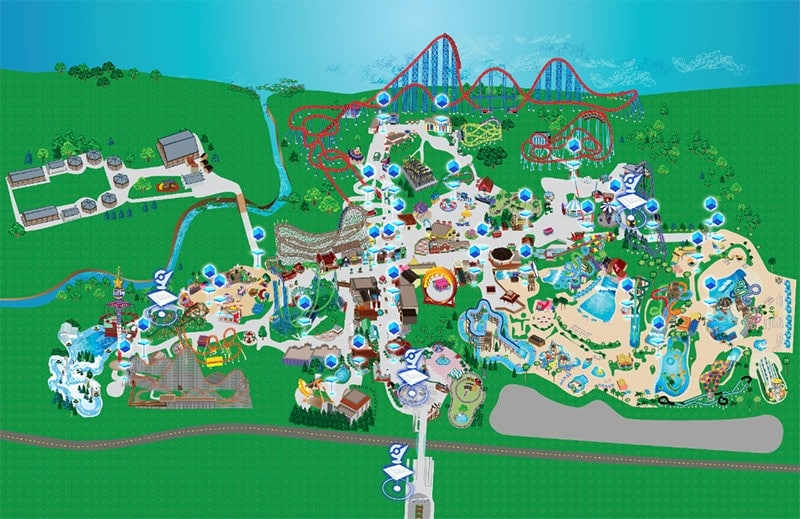 Mapa pokemonów Six Flags Adventure