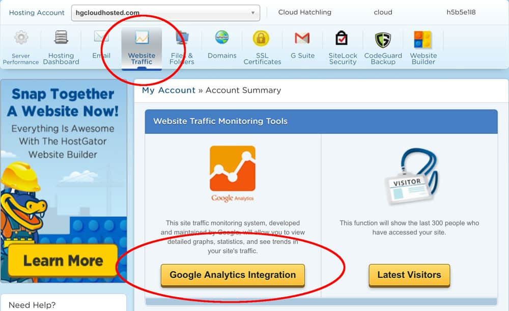 Integrasikan Google Analytics