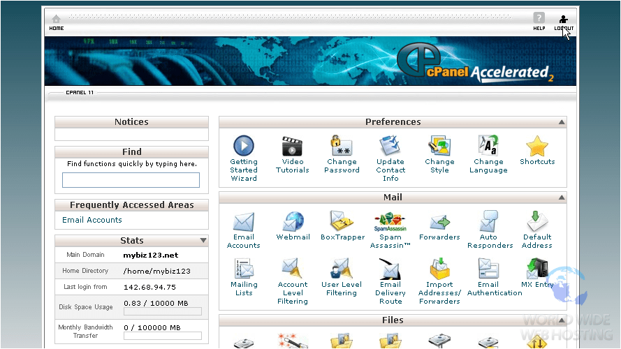 cPanel Old Design