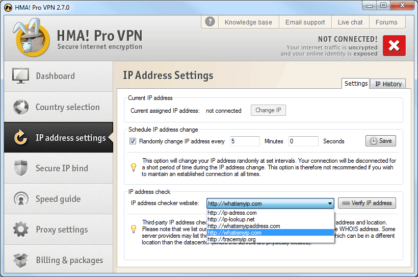 Hidemyass vs IPVanish: randomisering av programvare ip
