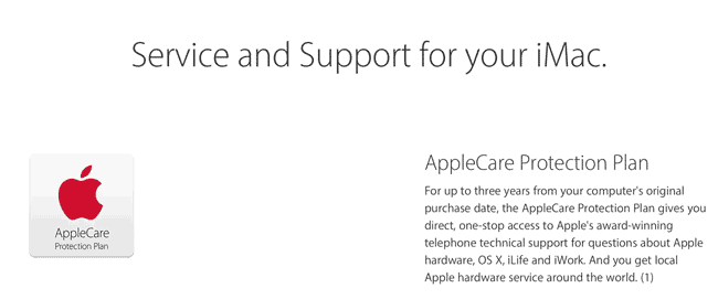 Upselling AppleCare