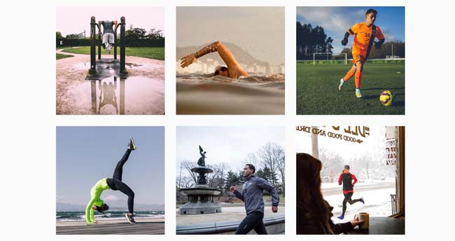 Nike's motiverende Instagram-feed