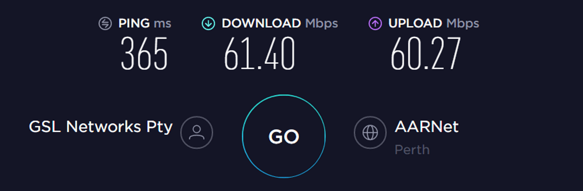 protonvpn speed test australia