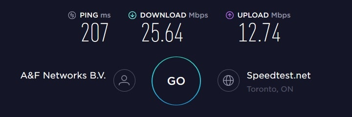 ExpressVPN Speed ​​Test - Canada