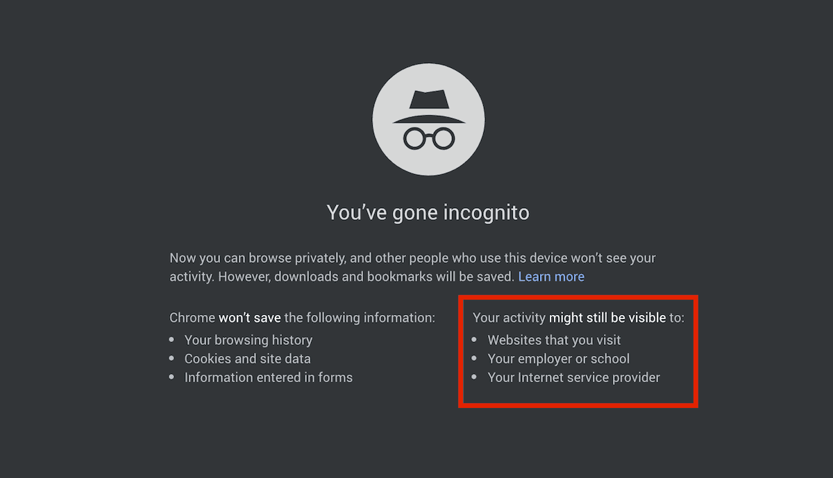 Incognito Chrome