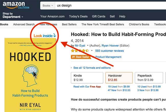 Amazon's Look Inside