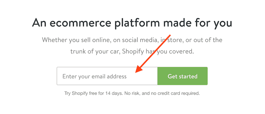Start Shopify Trial